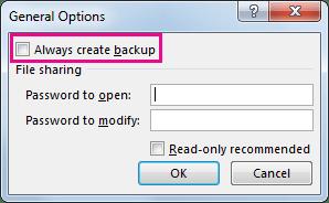 xlsx file backup