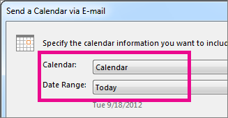 shared calendar 2013