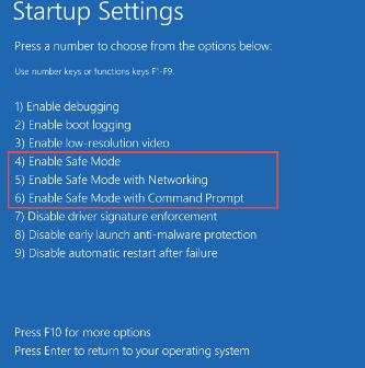 avoid blue screen with safe mode