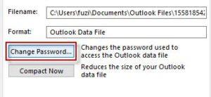 change pst password