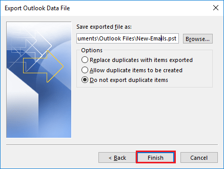 check mbox files in pst format outlook