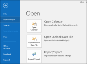 export imap mails in outlook
