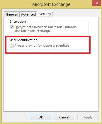 fix outlook prompt for password issue