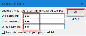 reset pst password