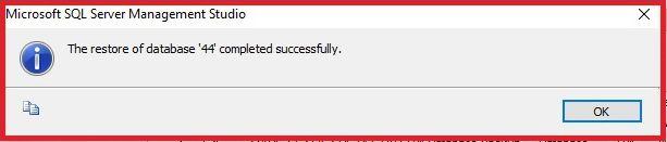 sql databse repair