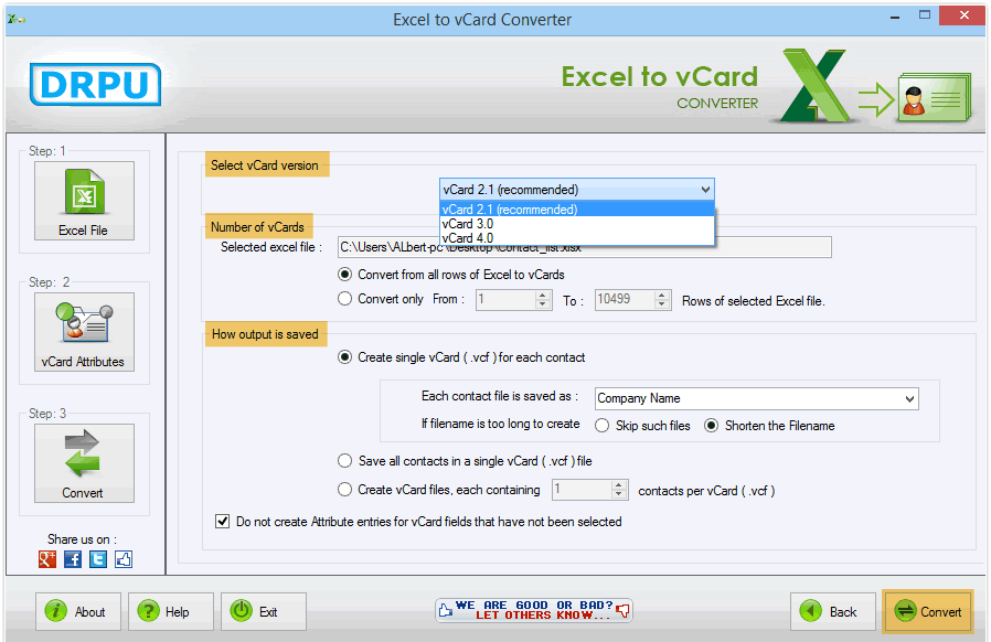 drpu export to vcf