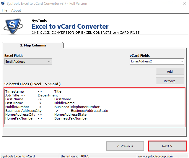 How to Convert Excel ( xlsx) Files in VCF Format Manually
