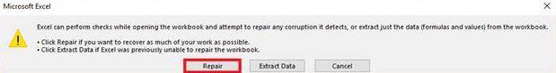 repair excel file free