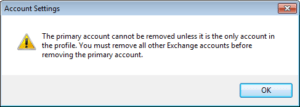 change outlook primary email account