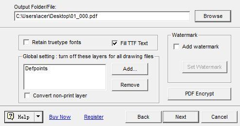 save converted pdf file