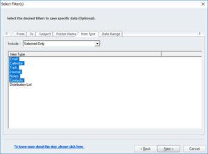 sort mails in kernel ost to pst converter