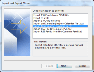 import contacts in outlook