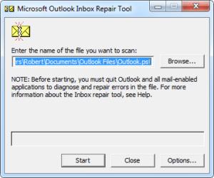 scan pst repair tool