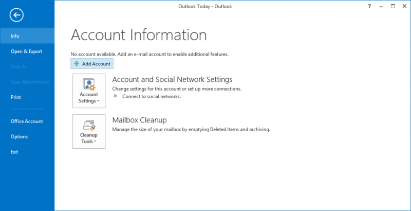 add aol account to outlook