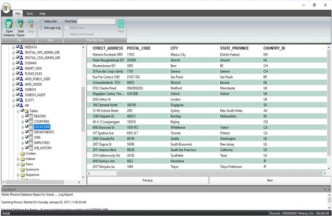 preview oracle dbf files