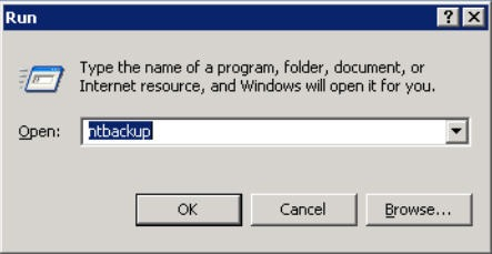 ntbackup method