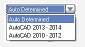 select dwg file format