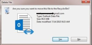 delete ost file in outlook
