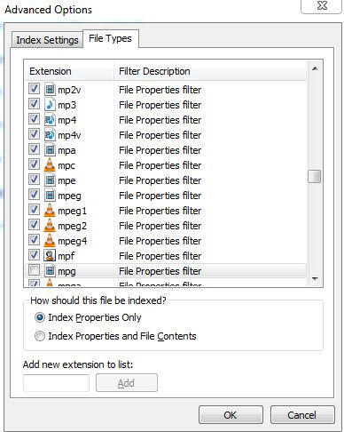 outlook search problem indexing issue