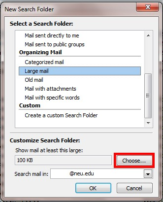 reduce outlook mailbox size