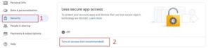 gmail to office 365 settings