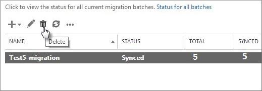 remove exchange migration batches