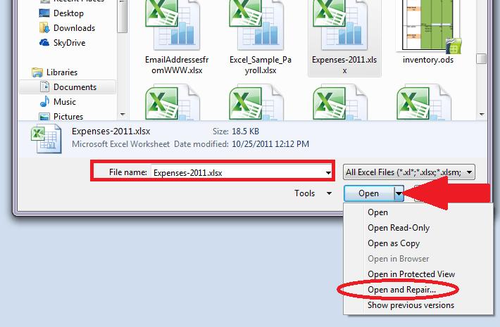 excel file repair