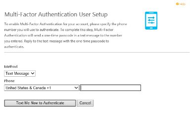 office 365 2 step verification