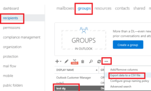 office 365 export distribution list members