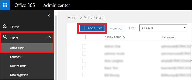 office 365 add user