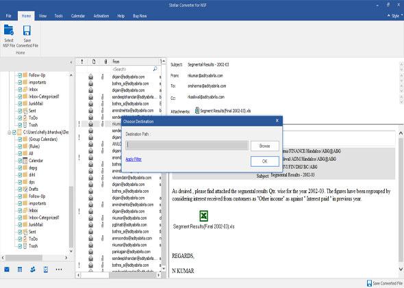 stellar nsf file conversion