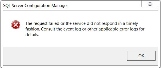 Request Failed or the Service Did Not Respond in a Timely Fashion